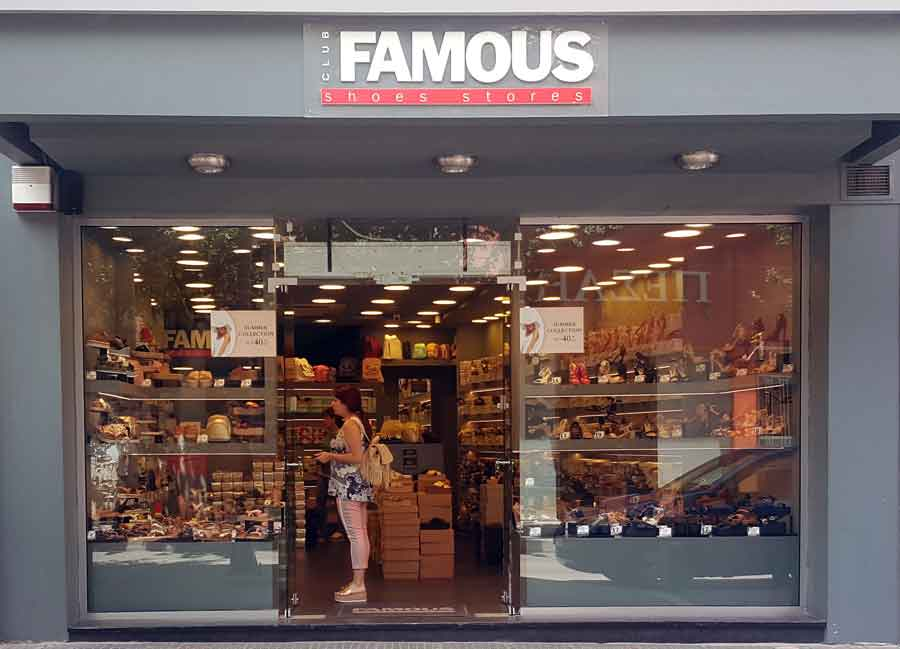 FAMOUS shoes stores franchise